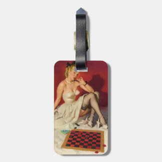 Lets Play a Game - Retro Pinup Girl Bag Tag