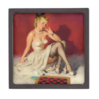 Lets Play a Game - Retro Pinup Girl Gift Box