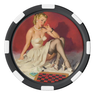 Lets Play a Game - Retro Pinup Girl Poker Chip Set