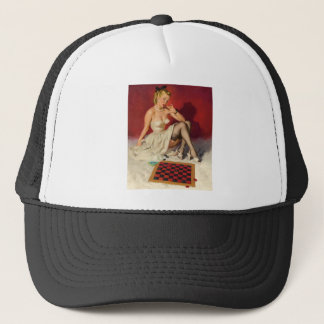 Lets Play a Game - Retro Pinup Girl Trucker Hat