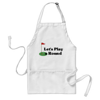 Let's Play a Round Adult Apron