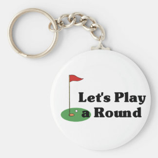 Let's Play a Round Keychain