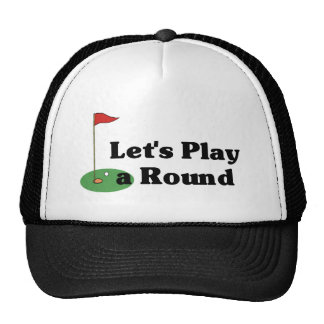 Let's Play a Round Trucker Hat