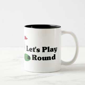 Let's Play a Round Two-Tone Coffee Mug