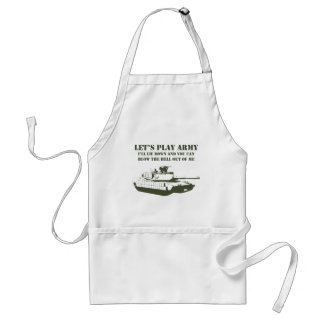 Let's Play Army Adult Apron