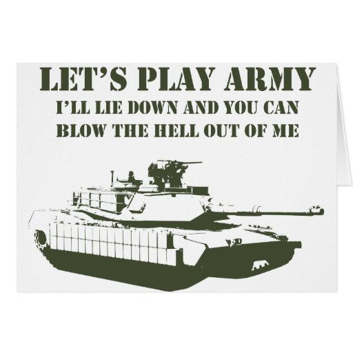 Let's Play Army Cards