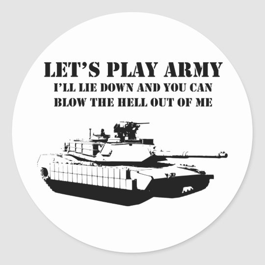 Let's Play Army Classic Round Sticker