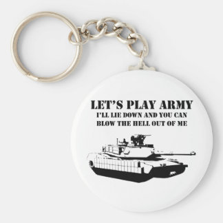 Let's Play Army Keychain