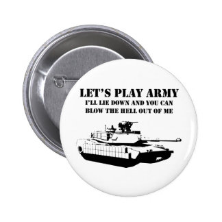 Let's Play Army Pinback Button