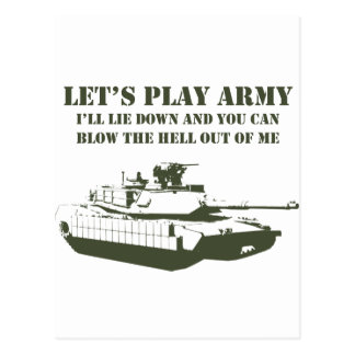 Let's Play Army Postcard