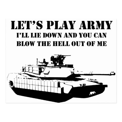 Let's Play Army Post Cards