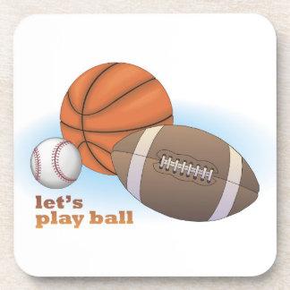 Let's play ball: baseball, basketball & football beverage coasters