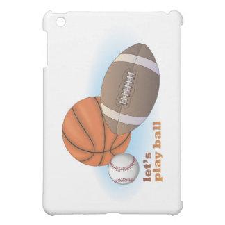 Let's play ball: baseball, basketball & football iPad mini cover