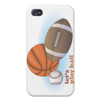 Let's play ball: baseball, basketball & football cases for iPhone 4