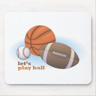 Let's play ball: baseball, basketball & football mousepads