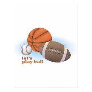 Let's play ball: baseball, basketball & football postcards