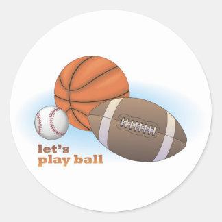 Let's play ball: baseball, basketball & football sticker