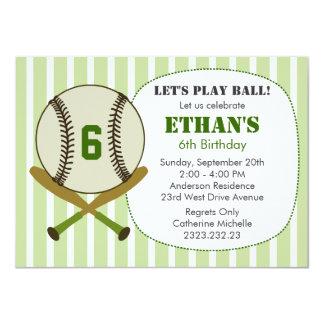 Let's Play Ball Baseball Birthday Party Invite