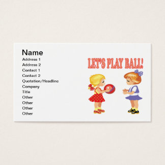 Lets Play Ball Business Card