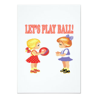 Lets Play Ball Card