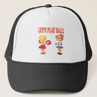 Lets Play Ball Trucker Hat