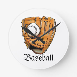Lets Play Baseball Round Clock