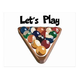 Let's Play Billiards Postcard