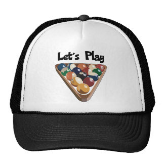 Let's Play Billiards Trucker Hat