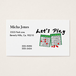 Let's Play Bingo Business Card