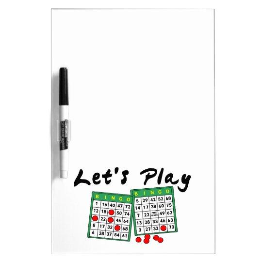 Let's Play Bingo Dry Erase Board