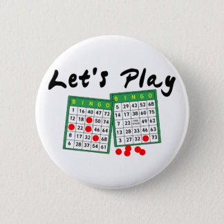 Let's Play Bingo Pinback Button