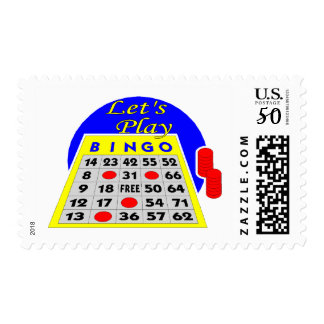 Let's Play Bingo Postage
