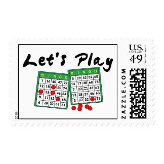 Let's Play Bingo Postage