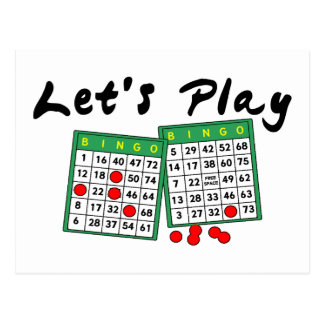 Let's Play Bingo Postcard