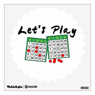 Let's Play Bingo Room Stickers