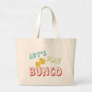 let's play bunco large tote bag
