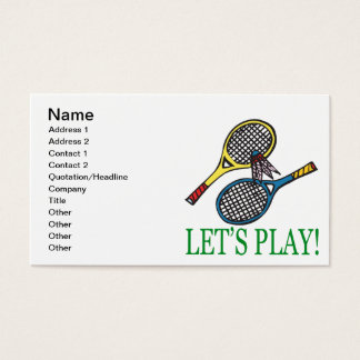 Lets Play Business Card