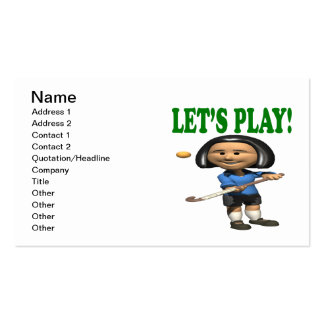 Lets Play Business Card Template