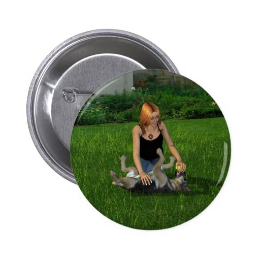 Let's play! pinback button