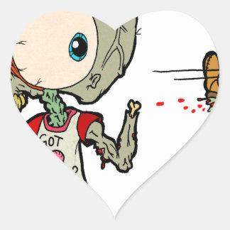 Let's Play Catch Zombie Heart Sticker