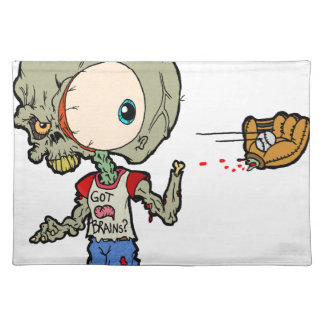 Let's Play Catch Zombie Place Mats