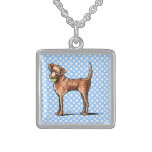 Lets Play Chessie Square Pendant Necklace