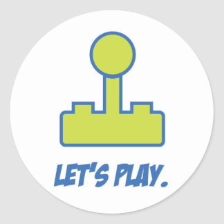 Let's Play Classic Round Sticker
