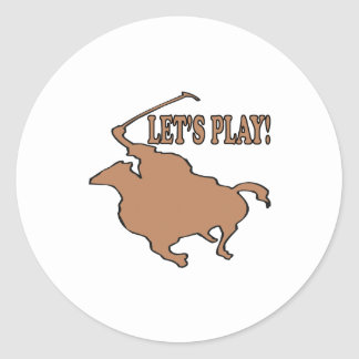 Lets Play Classic Round Sticker