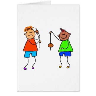 Lets Play Conkers Greeting Card