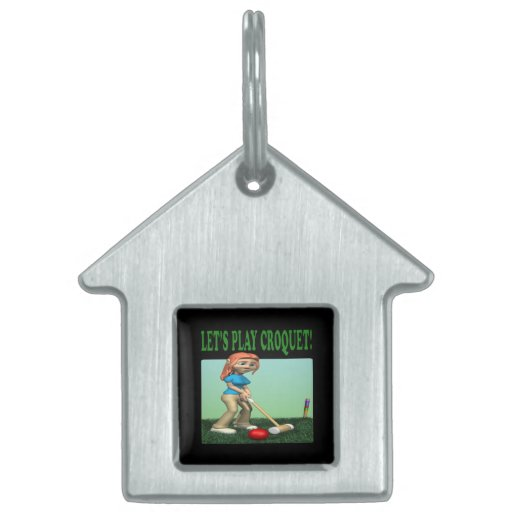Lets Play Croquet 2 Pet ID Tags