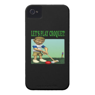 Lets Play Croquet Case-Mate iPhone 4 Case