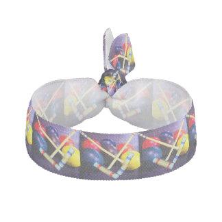 Let's Play Croquet Grunge Style Elastic Hair Tie