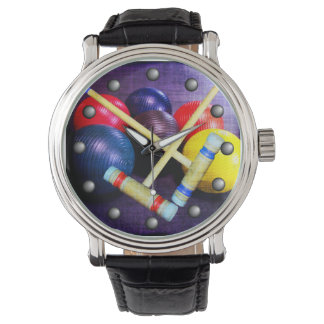 Let's Play Croquet Grunge Style Watch