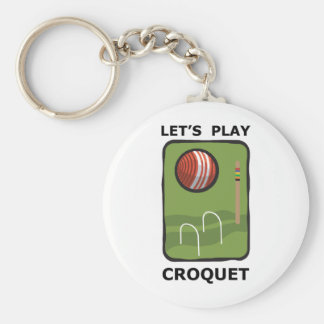 Let's Play Croquet Keychain